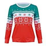 Yesmile Damen Kapuzenpullover Frauen Winter Langarm Fleecepullover Hoodys Warm Blumen Sweatshirts Hoodies Elegant Festlich Pullover Weihnachten Casual Streetwear