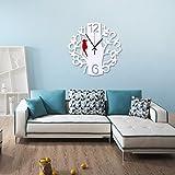 guazzbbia Moderne Minimalistische Kunst Stumm Mode Kreative Digitale Uhr Uhr Weiße Wanduhren Dekoartikel Digitale Wecker