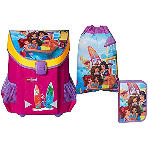 Lego friends Beach House juego de mochilas escolares