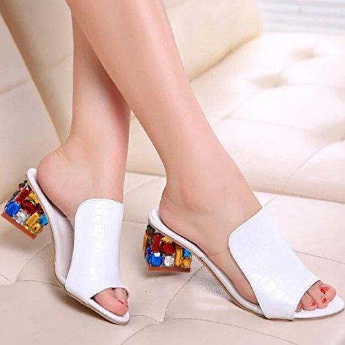 Zormey Xda Strass Peep Toe Pumps Frauen Sandalen Schuhe Sexy Open Toe Keil Folien Schuhe Frauen High Heels Sandalen Flip Flops Plattform 10