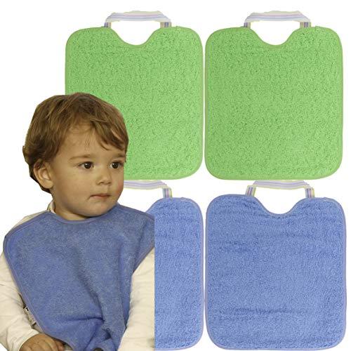 Ti TIN Pack 4 Baberos Impermeables Bebé