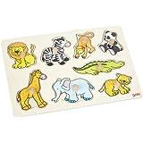 Goki 57874 - Steckpuzzle - Zootiere