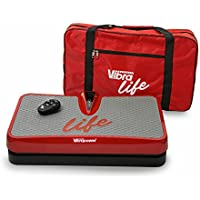 VIBRAPOWER New 2018 Life Vibration Plate Exercise Machine with Remote and Carry Bag, Various Colours