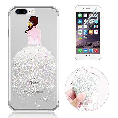 Sunroyal® Custodia iPhone 7 plus Silicone, Case Cover per iPhone 7 plus in TPU Silicone, (Designer Di Accessori Per Picnic)