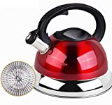 Energy saving kettle 304 stainless steel Whistling kettle Gas gas Home European kettle Thicken 4L