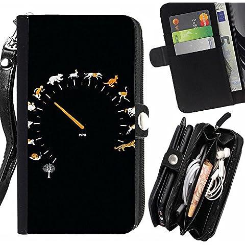Peach Tech Portafoglio in pelle della Carta di Credito fessure PU Holster Cover in pelle case HTC 10 / HTC 10 Lifestyle / Funny Gauge