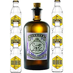 Monkey 47 Gin & 6 x Goldberg 0,2 Tonic Set Monkey 47 Schwarzwald Dry Gin