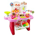 #4: Smartcraft Luxury Supermarket Shop - Pink, Candy Sweet Shopping Cart, Ice Cream Supermarket Role Play Set Toy for Kids