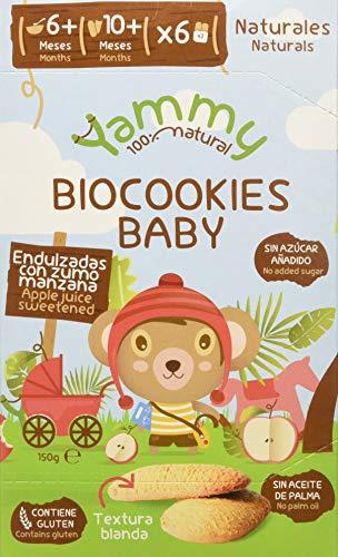 Yammy, Galleta Ecológica Bebé (Baby Vainilla) 6+ - 6 de 150 gr. (Total 900 gr.)