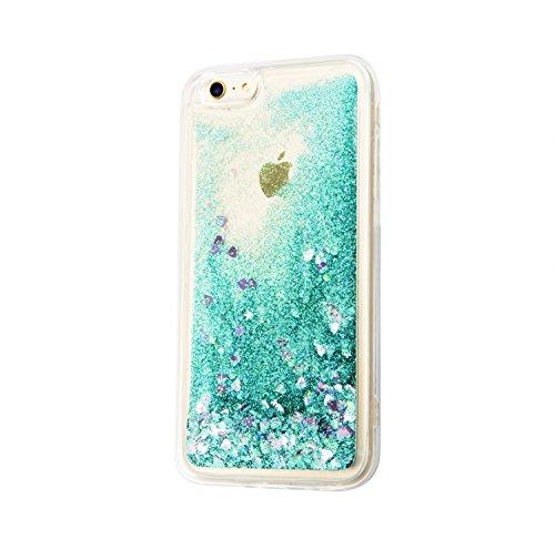 Flüssiges Case Ultra Thin Dünn TPU Silikon Schutzhülle für iPhone 5/5S (4 zoll) 3D Kreative Liquid Handyhülle Durchsichtig Rückseite Tasche Glitter Shiny Kristall Klar Handytasche Sparkle Dynamisch Tr B01