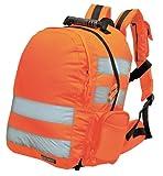 Mochila Reflectante de Alta Visibilidad - Amarillo o Naranja - Largo 28 x Ancho 21 x Alto 43, 25 Litros, Naranja