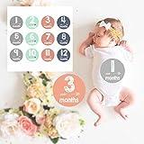 Sticky Bellies Baby Month Stickers - Baby-Monatsaufkleber für das 1. Lebensjahr, Schwangere Frauen Aufkleber.