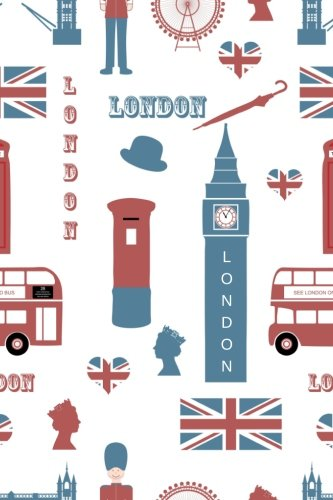 London: Travel-Size Journal, Diary, Notebook, Lined Pages, 240 Pages, 6 x 9 inch, A5 size por Lotoz