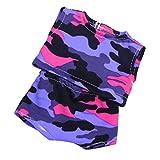 MagiDeal Camouflage Bademode Top + Hosen Badeanzug Sommer Kleidung für 18 Zoll American Girl Puppen