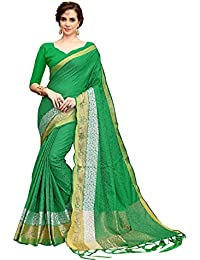 Ruchika Fashion Women's Silk Saree With Blouse Piece Material