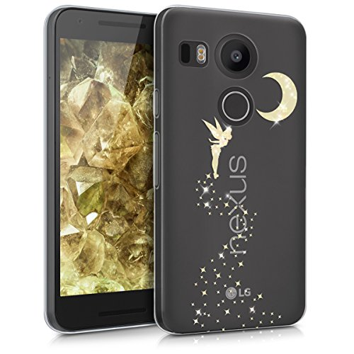 kwmobile LG Google Nexus 5X Hülle - Handyhülle für LG Google Nexus 5X - Handy Case in Gold Transparent