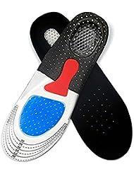 Semelle intérieure en gel absorbant les chocs confortable et unisexe Semelles orthèses à pied complet avec coussin en métal et talon en argent À pois (35-40 EU)
