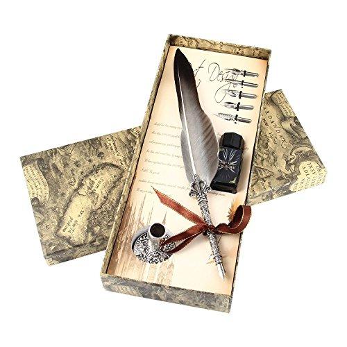 Brunnen Dip Pen Set, Tinte, Halterung und mit antikem Calligraphy mit Marmor-Geschenkset mit, Gradient Black, Einheitsgröße ()
