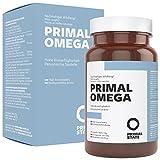 Omega 3 Fischöl Kapseln hochdosiert mit EPA & DHA | PRIMAL OMEGA | Softgel Kapseln hochdosiert mit 700mg | Premium EPAX Omega 3 Fettsäuren | Laborgeprüft | Fish Oil – 80 Kapseln