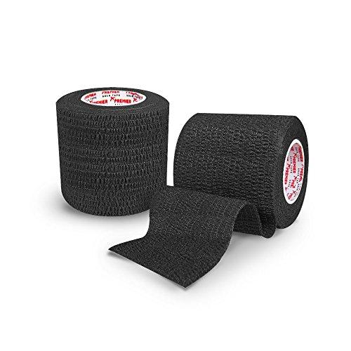 Premier Sock Tape Pro Wickeln Schienbein-pad Handgelenk Finger Fußball Rugby Socke Band 5cm - Schwarz, One Size
