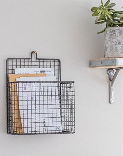 Wall mounted grey wirework magazine/letter rack - Rack Mounted Magazin Wall