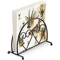 Stags Deer Brown Christmas 20 x tovaglioli di carta a 3 veli   verticale  cuore nero 14dd57664ec0