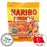 Haribo Pfirsiche / Seftali, Helal / Halal, Gummibärchen, Weingummi, Fruchtgummi, 100g