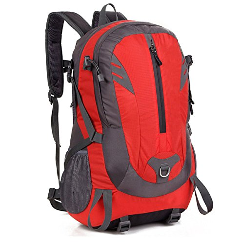 Groß Kapazität Outdoor Reisen Wandern Rucksack Wandern Bergsteigen Tasche Red