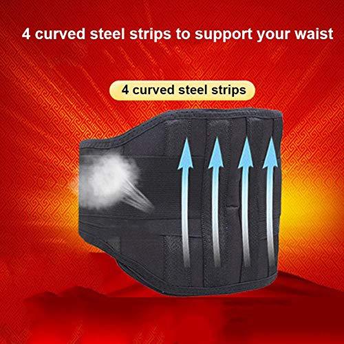 JOSE9A Tourmaline - Soporte de Cintura con autocalentamiento magnético para calefacción por Infrarrojos, Mujer, Gris, X-Large