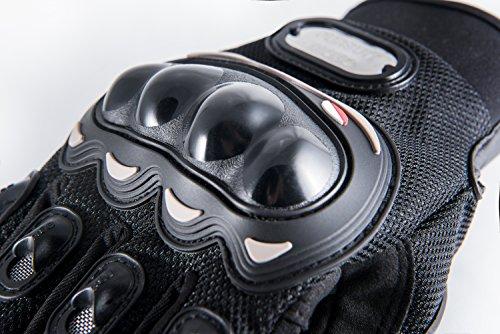 Motorradhandschuhe Pursuit Moto L schwarz kurz Sommer Touchscreen für Herren und Damen Motocross Handschuhe Fahrrad MTB Roller Sport Mofa - 4