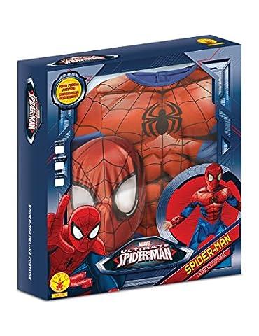 Ultimate Spider-Man Deluxe Kostüm für Kinder - Neues Design 98/104 (3-4 Jahre) (Spiderman Kostüme Designs)