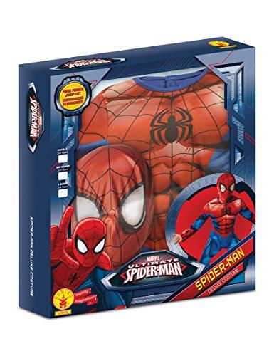 Ultimate Spider-Man Deluxe Kostüm für Kinder - Neues Design 122/128 (7-8 Jahre)