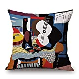 Housses et taies d'oreiller Colorful Picasso imaginative Painting Woman Sofa Design Simple Home Decor Throw Pillow Case Decor Cushion Covers Square 1818 inch Beige Cotton Blend linen-pattern 4