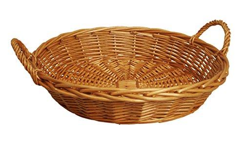 Wald importen 6602rund Honig Willow Korb, 40,6cm W x 55,9cm L x 10,2cm H (Dekorative Speicher-körbe)
