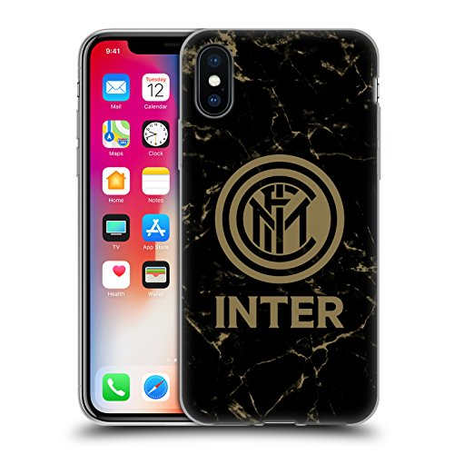 Head Case Designs Ufficiale Inter Milan Marmoreo 2017/18 Cresta Modelli Cover in Morbido Gel Compatibile con iPhone X/iPhone XS