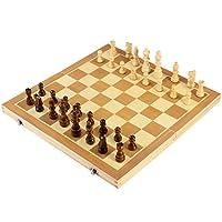 BESTOYARD-aufklappbares-Schachspiel-aus-Holz-mit-Magnetischen-Schachfiguren-Schachbrett-39-x-39-cm BESTOYARD aufklappbares Schachspiel aus Holz mit Magnetischen Schachfiguren, Schachbrett 39 x 39 cm -