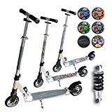 Hepros XXL BigWheel Fully Scooter 145mm Cityroller Silver Farbauswahl Carbon