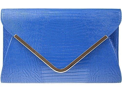Haute pour femme Imprimé Animal Diva's Pochette de soirée Pochette sac à main pour mariage - Bleu roi