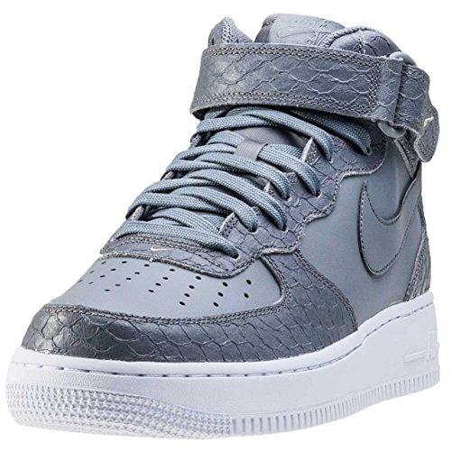 Freddo Uomo Da Force Nike Mid Grigio bianco Lv8 Grigio Basket 1 Scarpe Freddo grigio Air 07 wHaz0H7q