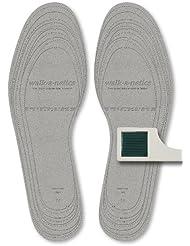 Lunavit walk-a-netics - semelles de puissance magnétique, 130 aimants disposés bipolaires, technologie désodorisante et antibactérienne, convenable à chaussures de taille 3,5 (36) à 12 (47)