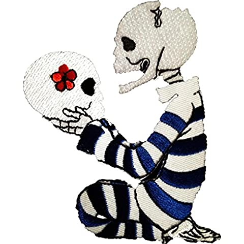 Siempre tuyo cráneo amor para la eternidad Punk Emo Cráneo Patch '8 x 10,2 cm' - Parche Parches Termoadhesivos Parche Bordado Parches Bordados Parches Para La Ropa Parches La Ropa Termoadhesivo Apliques Iron on Patch Iron-On