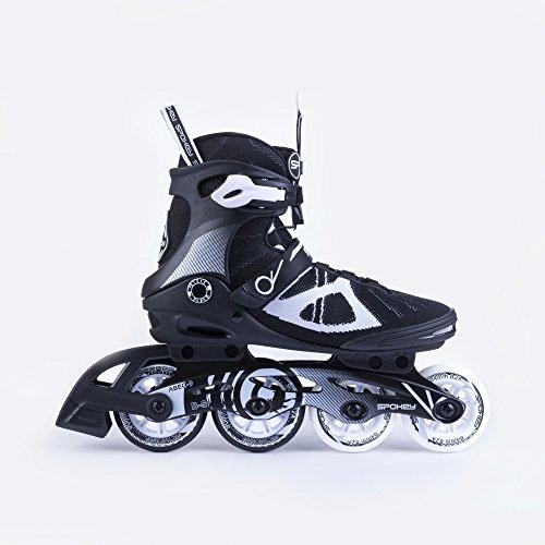 SPOKEY® XCOOL Inline Skates | Damen | Herren | Inline Blades | Große Rollen | ABEC9 Karbon | Aluminiumschiene | Größen 38-45