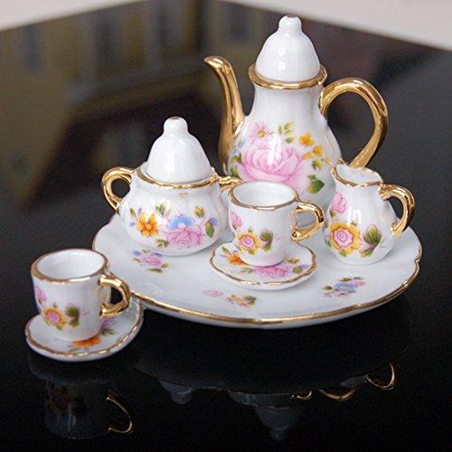 Puppenhausmöbel Tee Tasse Set Puppen Deko Kinder Geschenk LianLe (Tee Tasse Set)