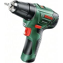 Bosch 06039A4000 - Destornillador eléctrico inalámbrico (PSR 10,8, LI-2, batería 1,5 Ah y cargador)