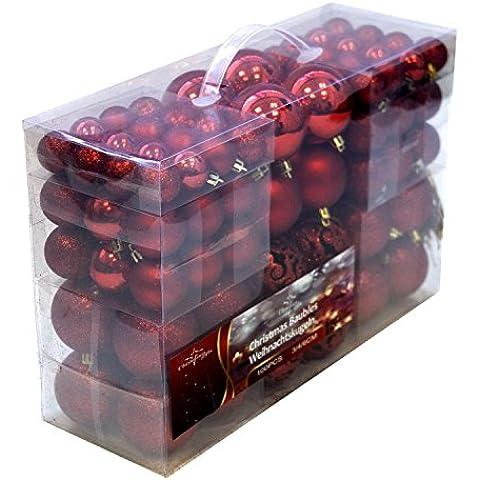Bolas 100 pcs rojo - Bolas de navidad de los adornos para árbol de Navidad