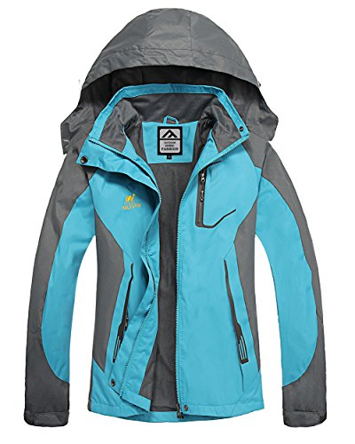 Waterproof Jacket Womens Rain coats -GIVBRO 2018 New Design warm and light weight Camping Hiking Mountaineering Running Jackets