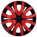 RKK10 Multi-Color Line Schwarz/Rot Radkappen / Radzierblenden 4 Stück