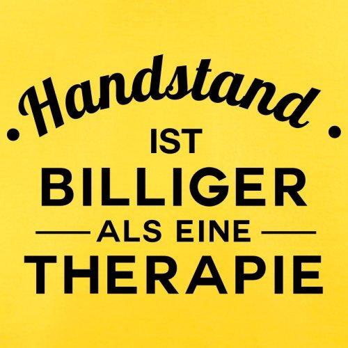 Handstand ist billiger als eine Therapie - Herren T-Shirt - 13 Farben Gelb