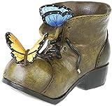 Gartendeko Gartenfigur Pflanztopf Blumentopf Motiv Schmetterling Schuh Übertopf