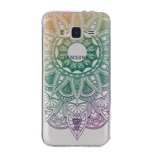Felfy Silicone Coque Housse pour Samsung Galaxy J3 (2016),Samsung J3 Case Ultra Slim Silicone Etui Souple Coque Etui Silicone Case TPU Cover Etui de Protection Cas Souple Gel TPU Bumper Couleur Motif  Tournesol Vert Violet